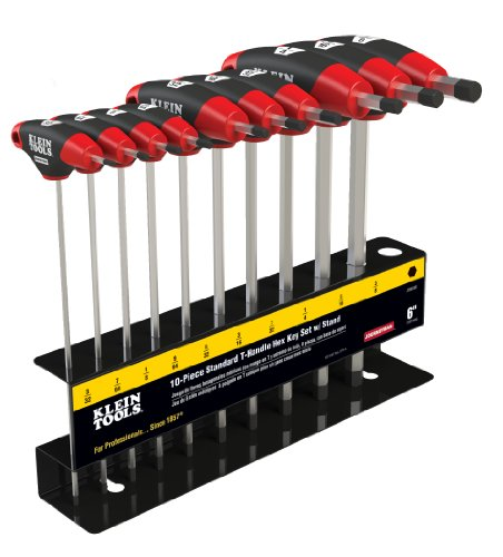 Klein Tools JTH910E SAE Journeyman T-Handle Set with Stand, 10-Piece