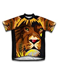 Lion Abstract Short Sleeve Cycling Jersey for Women