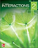 img - for Interactions Level 2 Listening/Speaking Student Book plus Registration Code for Connect ESL 6th edition by Tanka, Judith, Baker, Lida R. (2013) Paperback book / textbook / text book