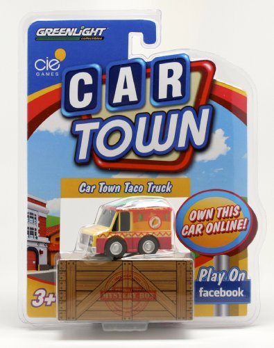 CAR TOWN TACO TRUCK * 2 Speed Pull-Back Motor * 2013 Car Town Series 1 Greenlight Collectibles Vehicle - 1
