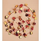Creative Converting Long Copper, Gold and Red Leaves Wire Garland, 12-Feet