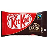 Nestle Kit Kat Fairtrade 4 Finger 70 Percent Dark Chocolate 45 g (Pack of 24)