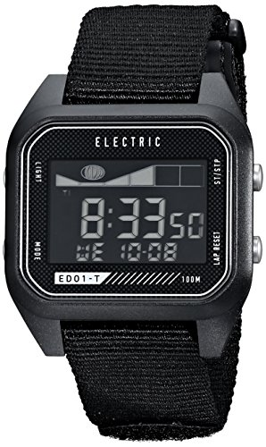 Electric Men's EW0120020001 ED01 Tide Nato Band Digital Display Japanese Quartz Black Watch (Gshock Lap Timer compare prices)