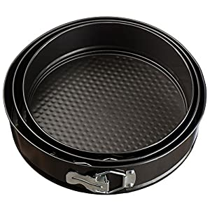 VonShef Set of 3 Non-Stick Springform Cake Pans