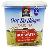 Quaker Oat So Simple Express Pot Original Porridge 50 g (Pack of 8)