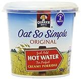 Quaker Oat So Simple Express Pot Original Porridge 50 g (Pack of 8)