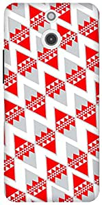 The Racoon Lean printed designer hard back mobile phone case cover for HTC One (E8). (Tetra)