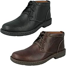 Clarks Mens Casual Stratton Limit Leather Boots In Black