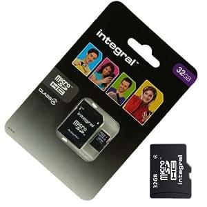 Acce2S - CARTE MEMOIRE 32 GO pour SAMSUNG Galaxy CORE 4G MICRO SD HC + ADAPT SD integral