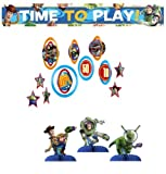 Toy Story Game Time Party Decoration Pack Including Plastic Banner, Centerpiece and Dangler