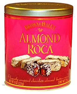 Almond Roca Buttercrunch Toffee with Chocolate and Almonds 35oz Tin Cannister