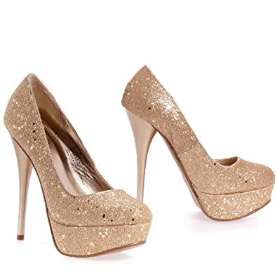 CELIA NEUTRAL GLITTER PUMP