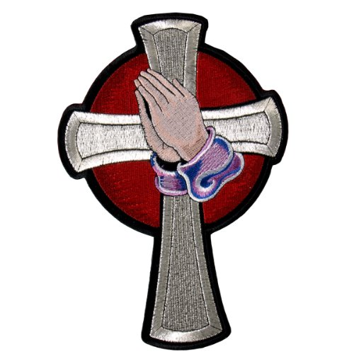Hot Leathers Prayer Cross Patch (3