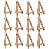"US Art Supply® 5"" Mini Wood Display Easel Natural (12-Pack)"