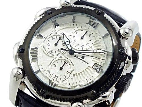 SALVATORE MARRA サルバトーレ・マーラ ITALY クロノ 腕時計 SM12111-SSWHBK
