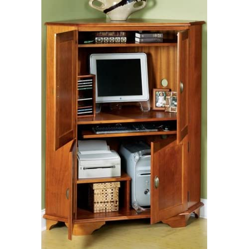 "Amazon.com - Corner Computer Armoire 57""hx47.5""w Dark Cherry -"