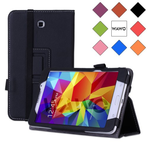 Wawo Samsung Galaxy Tab 4 7.0 Inch Tablet Creative Folio Case - Black