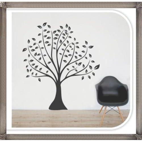 Black Big Tree Easy wall decor sticker wall decal   Black Big Tree