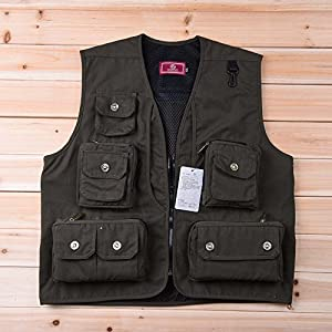 Lixada Men Outdoor Hiking Fishing Waistcoat Photography Director Camera Jacket Vest Gilet from Lixada