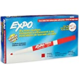 EXPO 86002 Sanford EXPO Low Odor Dry Erase Marker, Fine Point, Red, Box of 12