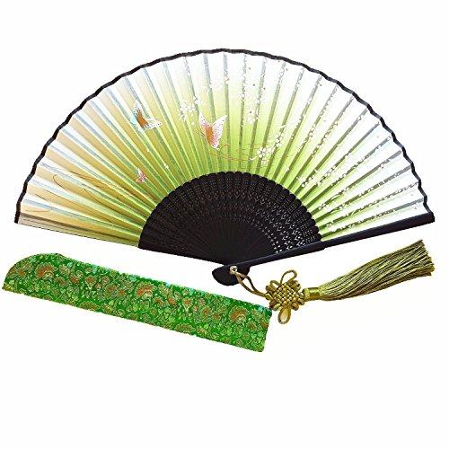 Wise Bird Chinese Japanese Folding Hand Fan for women, Summer Cooling Accessories Vintage Retro Style 8