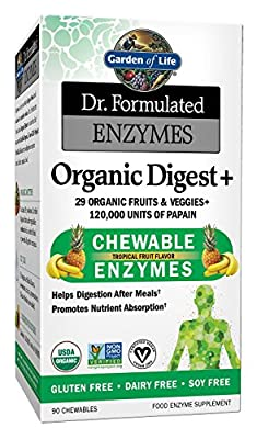 Garden of Life, Enzymes Organic Digest, 90