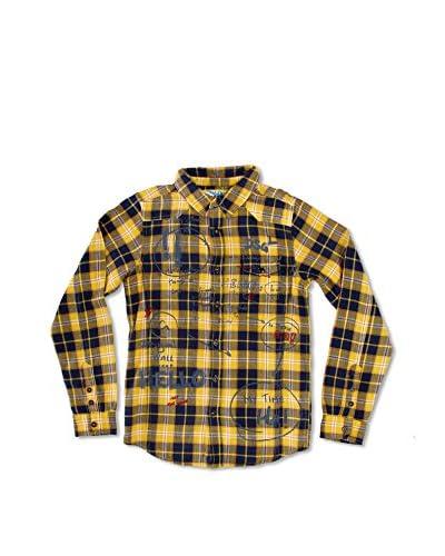 Desigual Camisa Niño Farfalle Amarillo