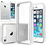 iPhone 5S Case, Caseology® [Fusion Series] Scratch-Resistant Clearback Cover [White] [Dual Bumper] for Apple iPhone 5S - White