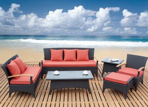 Outdoor Dark Brown Sofa Set