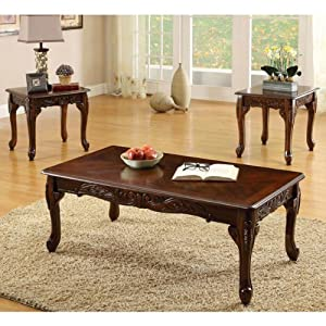 Fraser old english style cherry finish 3 for Coffee tables on amazon