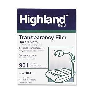 3M HIGHLAND901 8.5inx11in Transparency Film