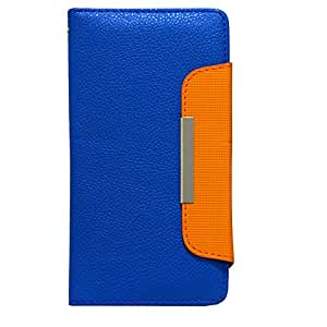 Jo Jo Z Series Magnetic High Quality Universal Phone Flip Case Cover Stand For Samsung Galaxy Mega 6.3 Blue Orange