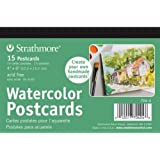 Strathmore Blank Watercolor Postcards pad of 15 (Package May Vary)