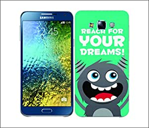 Galaxy Printed 2414 Motivational Monster Dreams Hard Cover for Samsung GRAND I9082