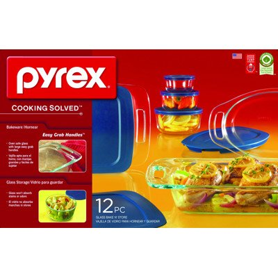 Pyrex 12-piece Glass Bake 'N Store Set