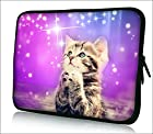 FBA ps10-005 NEW Fashion cute cat 9.7 10 10.1 10.2 inch soft Neoprene Laptop Netbook Tablet Case Sleeve bag cover pouch For iPad 2