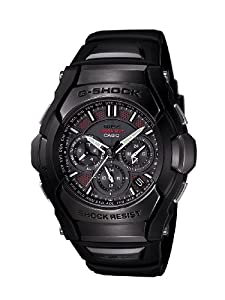 Casio Men's GS1300B-1A G-Shock Solar Atomic Black Analog Sport Watch