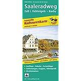 Radtourenkarte Saale-Radwanderweg: Leporello mit Ausflugszielen, Einkehr- & Freizeittipps sowie Entfernungen, Etappen, Höhenprofil, wetterfest, reißfest, abwischbar, GPS-genau, 1:50000