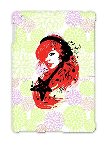 Music Girl Red Guitar Sexy Rock Miscellaneous Headphones Star Music Notes Model Woman Case For Ipad 4