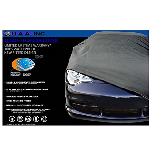 UAA Gray Fitted Waterproof High Quality Car Cover & free lock & cable for CHEVROLET COBALT