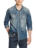 True Religion Camisa Vaquera Ryan (Azul Denim)