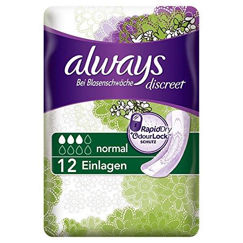 always-discreet-inkontinenz-einlagen-normal-bei-blasenschwache-einzelpack-2er-pack-2-x-12-stuck