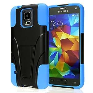 S5 Schutzhülle,Samsung Galaxy S5 Hülle SUPAD® Slim Fit Handyhülle Ultra dünn Slim Dual Layer Rüstungs Hybrid Schutzhülle Blau mit Ständer für Samsung Galaxy S5 SV I9600 (Für Samsung Galaxy S5, Blau)