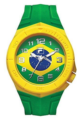 Fila-Bracciale unisex orologio Fan Sport 38-072-002FILA casual Brasile Bandiera fan articolo