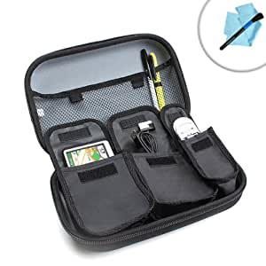 USA Gear Hard Shell Guitar Kit Travel Case for Guitar Accessories: Tuners , Capos , Slide s, Picks , Cleaner s, Polishes , Earplugs , Strings , Preamps , Digital Recorders , & More!