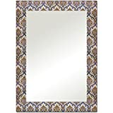 The Attic Nibley Mirror Frame (Glossy Finish, Brown)