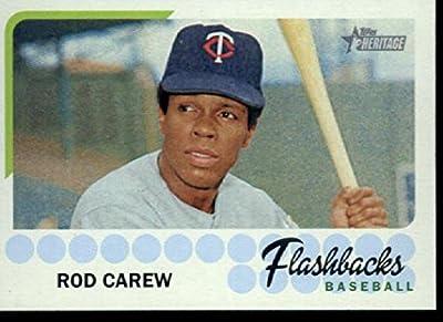 2016 Topps Heritage Baseball Flashbacks #BF-RCA Rod Carew Minnesota Twins Baseball Card