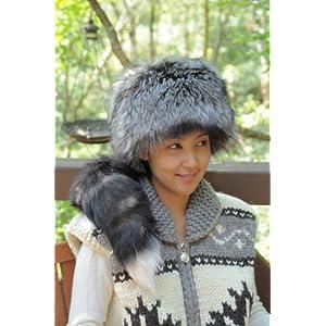 シルバーフォックスの毛皮帽子