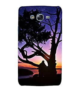 printtech Nature Sunset Trees Back Case Cover for Samsung Galaxy J7 (2016 )