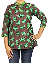 Comfortable Airy Summer Clothes Indian Kurti Women Shirt Cotton Printed For Women